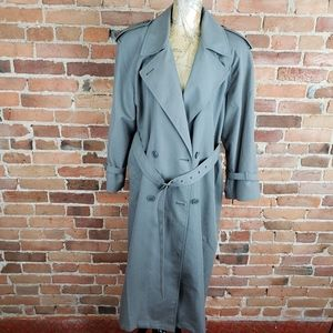 Women's London Fog Double Breasted Trench Coat 10P